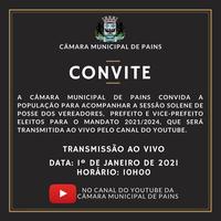 Sessão Solene de Posse será transmitida ao vivo pelo Youtube